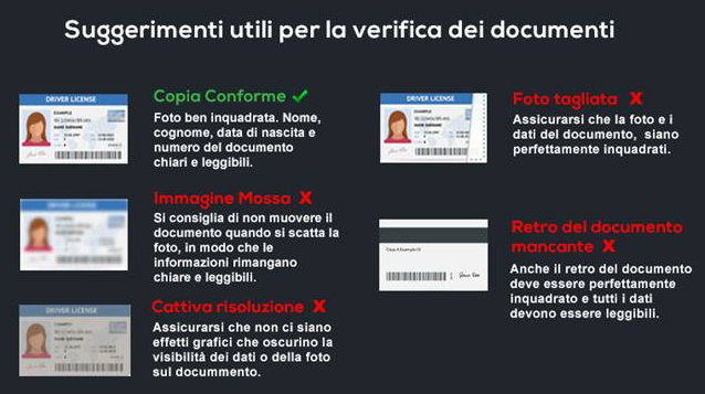 Suggerimenti verifica documento
